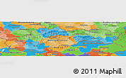 Political Panoramic Map of Slovakia