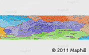 Political Shades Panoramic Map of Slovakia