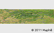 Satellite Panoramic Map of Slovakia