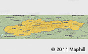 Savanna Style Panoramic Map of Slovakia