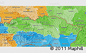Political Shades 3D Map of Presov