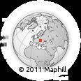 Outline Map of Kezmarok