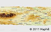 Physical Panoramic Map of Kezmarok