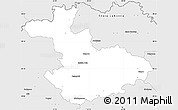 Silver Style Simple Map of Kezmarok