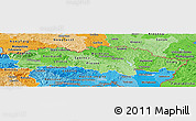 Political Shades Panoramic Map of Presov