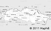 Silver Style Simple Map of Presov