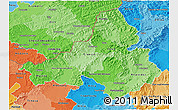 Political Shades 3D Map of Trencin