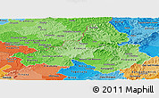 Political Shades Panoramic Map of Trencin