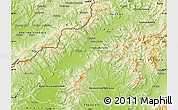 Physical Map of Trencin