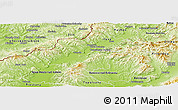 Physical Panoramic Map of Trencin