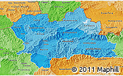 Political Shades 3D Map of Zilina