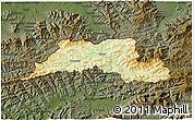 Physical 3D Map of Cadca, darken