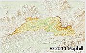 Physical 3D Map of Cadca, lighten