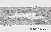 Gray Panoramic Map of Cadca