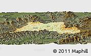 Physical Panoramic Map of Cadca, darken