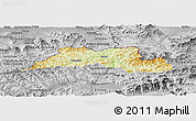 Physical Panoramic Map of Cadca, desaturated