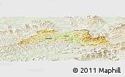 Physical Panoramic Map of Cadca, lighten