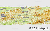 Physical Panoramic Map of Cadca