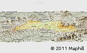 Physical Panoramic Map of Cadca, semi-desaturated