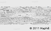 Silver Style Panoramic Map of Cadca