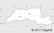 Silver Style Simple Map of Cadca, cropped outside
