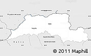 Silver Style Simple Map of Cadca