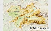 Physical Map of Zilina, lighten