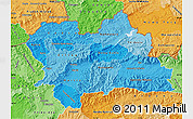 Political Shades Map of Zilina