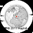 Outline Map of Ruzomberok