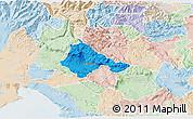 Political 3D Map of Ajdovscina, lighten