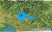 Political 3D Map of Ajdovscina, satellite outside