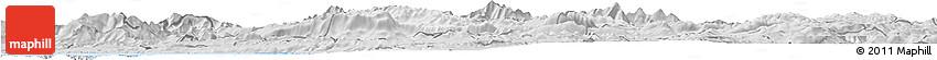 Silver Style Horizon Map of Ajdovscina