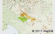 Physical Map of Ajdovscina, lighten