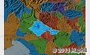Political Map of Ajdovscina, darken