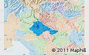 Political Map of Ajdovscina, lighten