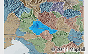 Political Map of Ajdovscina, semi-desaturated
