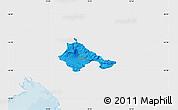 Political Map of Ajdovscina, single color outside