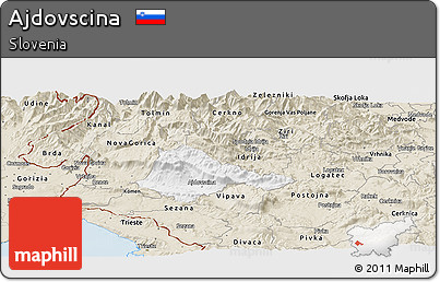 Classic Style Panoramic Map of Ajdovscina