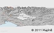 Gray Panoramic Map of Ajdovscina
