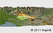 Physical Panoramic Map of Ajdovscina, darken