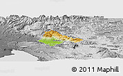 Physical Panoramic Map of Ajdovscina, desaturated