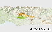 Physical Panoramic Map of Ajdovscina, lighten