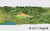 Physical Panoramic Map of Ajdovscina, satellite outside