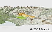 Physical Panoramic Map of Ajdovscina, semi-desaturated