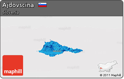 Political Panoramic Map of Ajdovscina, cropped outside