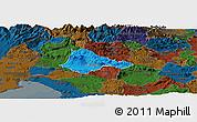 Political Panoramic Map of Ajdovscina, darken