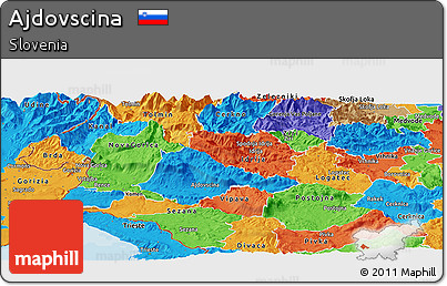 Political Panoramic Map of Ajdovscina