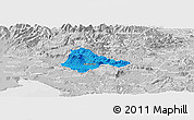 Political Panoramic Map of Ajdovscina, lighten, desaturated