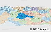 Political Panoramic Map of Ajdovscina, lighten