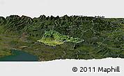Satellite Panoramic Map of Ajdovscina, darken